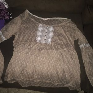 Brown Lacy Top